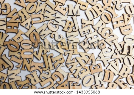 Top view of letters of the alphabet - background from the letters of the alphabet. #1433955068