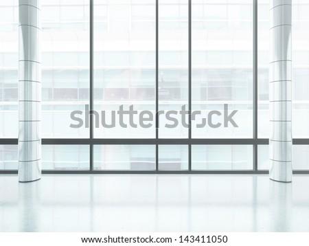 bright office window