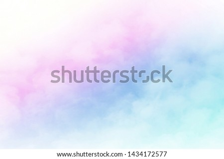 Sky Cloud pastel with a Colorful background