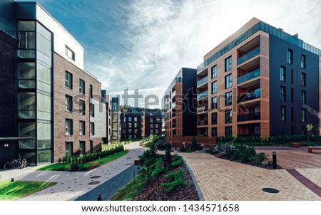 Europe Modern european complex of apartment buildings. And outdoor facilities. #1434571658