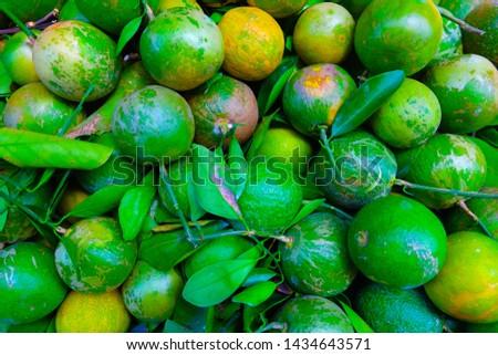 asian lemon in the market #1434643571