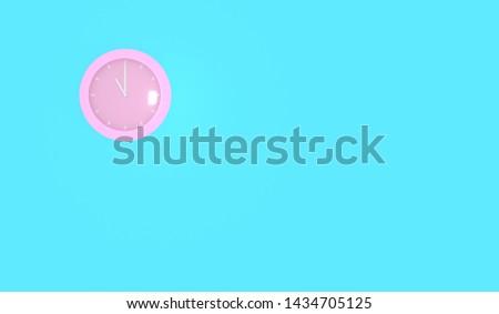 clock 3d render on blue background. #1434705125