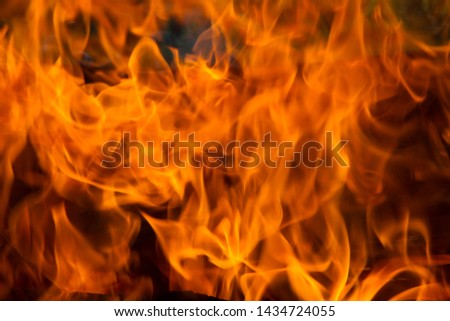 flame for  background,tongues of flame, tongues of fire, flame pattern, flame structure,blury and soft image,  #1434724055