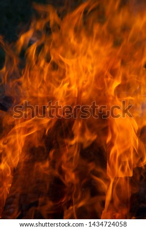 flame for  background,tongues of flame, tongues of fire, flame pattern, flame structure,blury and soft image,  #1434724058
