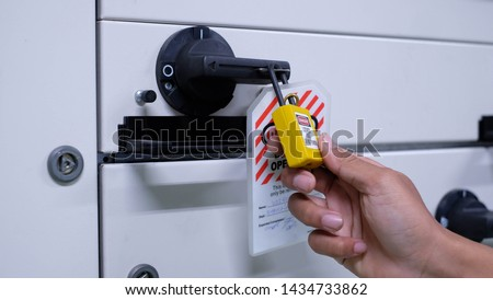 Lock out & Tag out, Lock out station, machine - specific Lock out devices , Lock out for electrical maintenance #1434733862