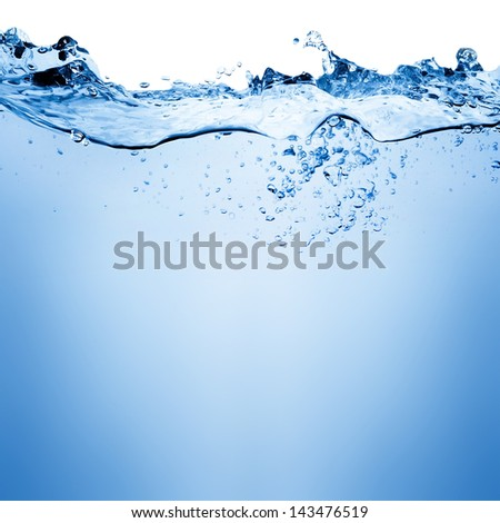 Water and air bubbles over white background with space for text #143476519