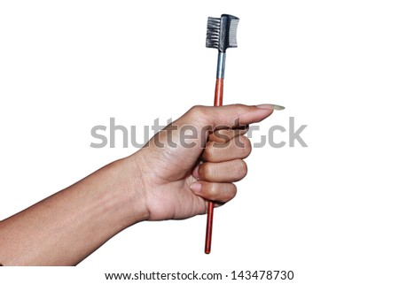 hand held tools makeup, isolated on white background #143478730