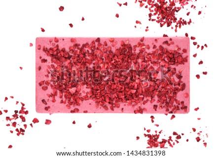 raspberry chocolate with raspberry pieces #1434831398