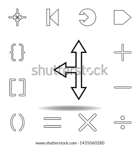 arrows of different directions icon. Thin line icons set for website design and development, app development. Premium icon #1435060280