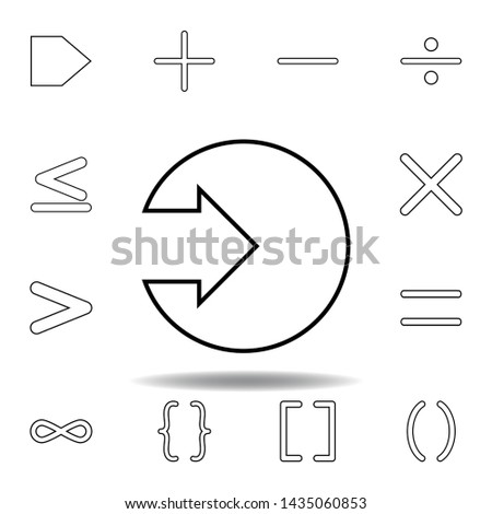 arrow in a circle icon. Thin line icons set for website design and development, app development. Premium icon #1435060853