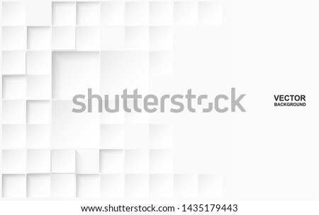 Abstract. Embossed paper square white Background ,light and shadow .Vector. #1435179443
