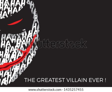 Joker Illustration In Black Background Templates