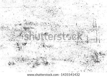 Scratched Grunge Urban Background Texture Vector. Dust Overlay Distress Grainy Grungy Effect. Distressed Backdrop Vector Illustration. Isolated Black on White Background. EPS 10.