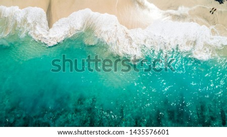 Ocean with Waves and Yellow Beach #1435576601