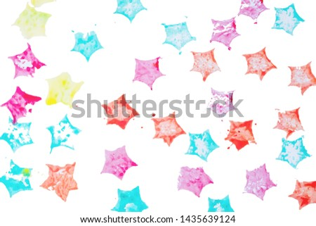 Abstract background pentagonal shape colorful of water color on white paper