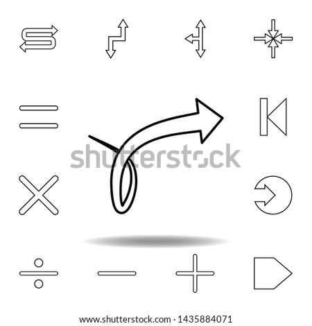 arrow with knot icon. Thin line icons set for website design and development, app development. Premium icon #1435884071
