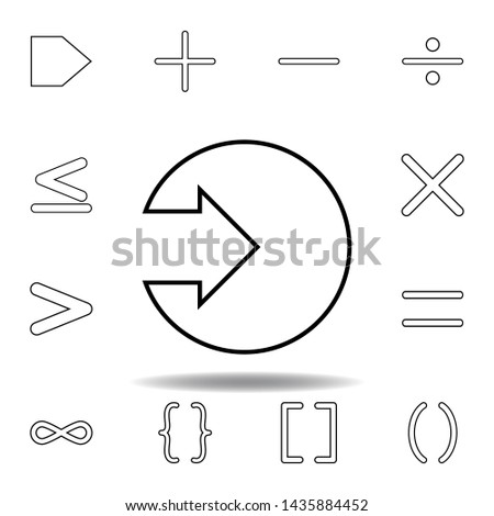 arrow in a circle icon. Thin line icons set for website design and development, app development. Premium icon #1435884452