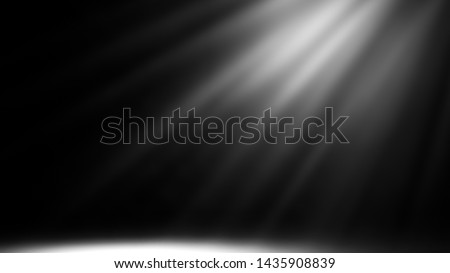 Dry ice smoke clouds fog floor texture. Perfect spotlight mist effect on isolated black background. #1435908839