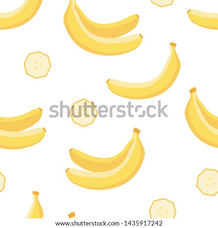 Tropical seamless pattern of banana, summer background for print #1435917242