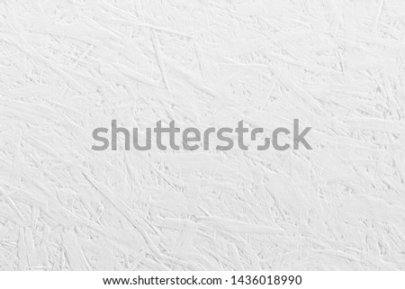 Plywood chipboard sheet texture white painted background made of recycled compressed wood and sawdust