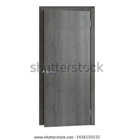 Interroom door isolated on white background. 3D rendering. #1436150135