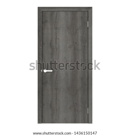 Interroom door isolated on white background. 3D rendering. #1436150147