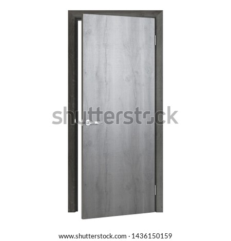 Interroom door isolated on white background. 3D rendering. #1436150159