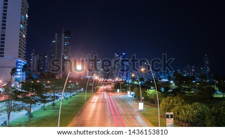 view of the panama city nights #1436153810