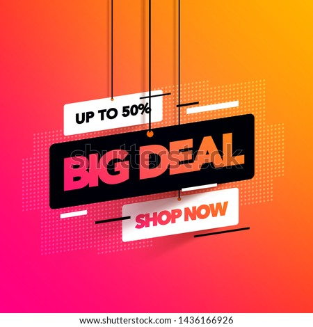 Vector illustration abstract big deal banner with coloful gradient for special offers, sales and discounts #1436166926