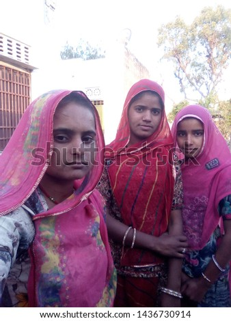 Girl, village girl, Indian village girl, beautiful girl, cute, #1436730914