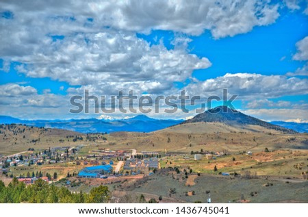 Elevated view of cripple Creek, Colorado #1436745041