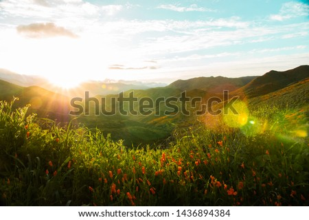 California Hills Background Colors Lake Elsinore Hills Green, Colorful, and Full of Life #1436894384