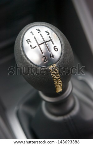 Sports car gear shifter #143693386