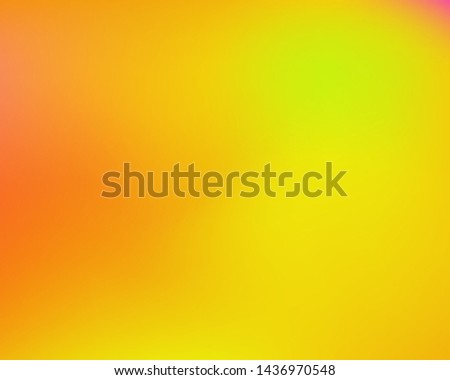 Modern blurry smooth background. Vector illustration concept. Fluid backdrop with bright rainbow colors. Yellow fluid colorful shapes for poster, presentation and banner. #1436970548