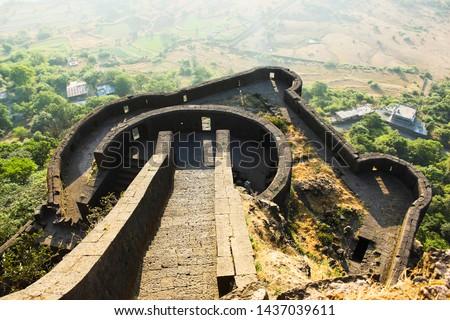 Lower ramparts of Lohagad Fort, Pune district, Maharashtra, India #1437039611