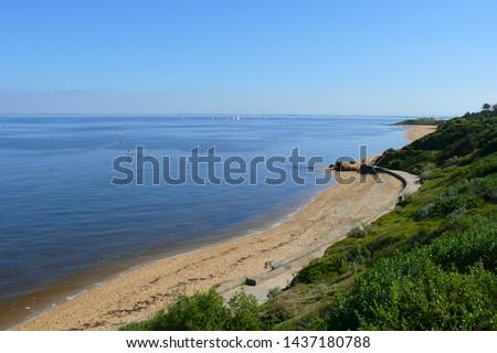 sandringham beach in victoria, australia #1437180788
