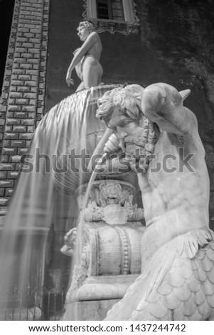 Catania - The nightly detail of Amenano fountain by Tito Angelini (1837). #1437244742