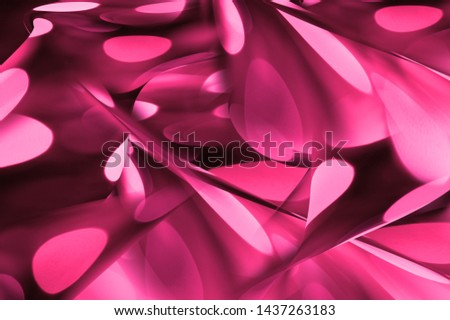 Abstract neon colorful art background. Digital art. Plastic pink neon background. Multicolored and pastel trendy background.