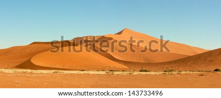 Huge sand dune in Sossusvlei area, in the southern part of the Namib Desert #143733496