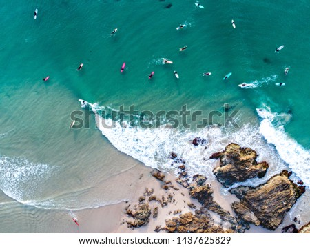 Surfing Aerial Noosa Byron Gold Coast Sunshine Coast #1437625829