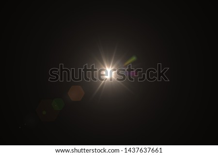 Natural, Sun flare on the black background #1437637661