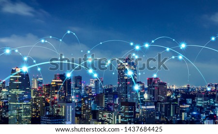 Smart city and communication network concept. #1437684425