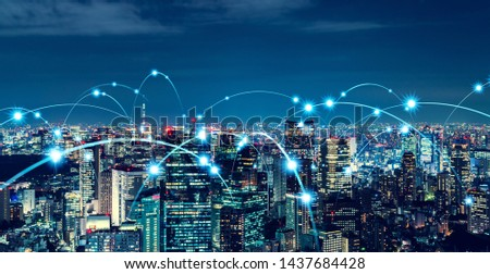 Smart city and communication network concept. #1437684428