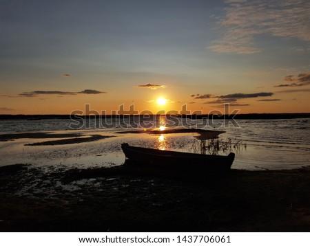 Nice sunset on the sea #1437706061