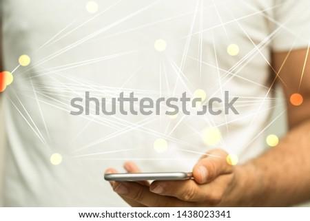 communication network  digital workforce 3d #1438023341