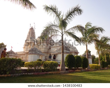 beautiful temple of god in india with peaceful environment.. #1438100483