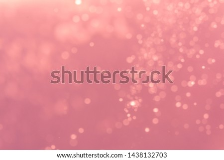 Abstract Pink bokeh defocus glitter blur background. #1438132703