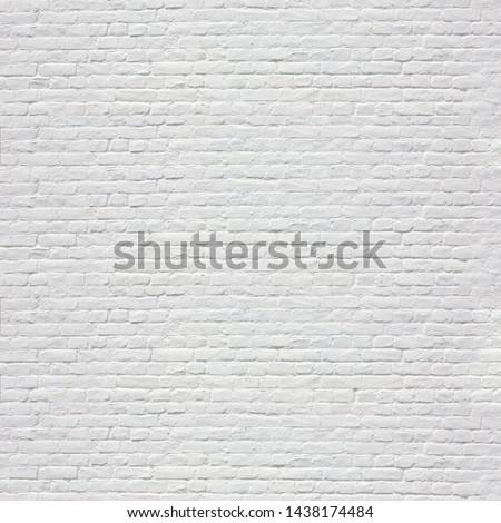 White brick wall background / square #1438174484
