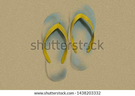 Slippers cover by sand ( Photoshop technic)