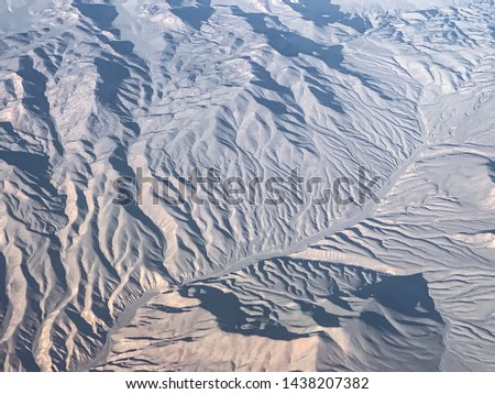 California desert from 30,000 feet #1438207382
